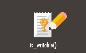 PHP、is_writable()で書き込み権限をチェック!